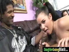 youthful gal drilled by large dark cock 4