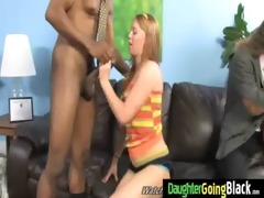 youthful cutie drilled by large black weenie 5