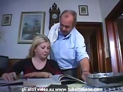 italian incest golden-haired teen drilled by dad