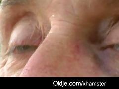 pervert oldman bangs shy lustful golden-haired