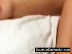 cute teen daughter screwed hard