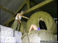town beauty drilled by old farmer