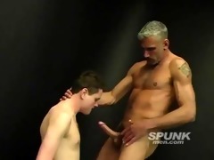 lewd dad stuffing his massive wang down this