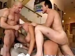 father and ally pigroast their busty blond maid