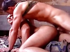 white rock hard muscle dad screwed raw