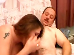 obese dad fucking big beautiful woman