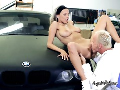 hot tracy acquires down and indecent with her