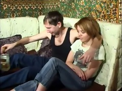 russian father and his shy daughter