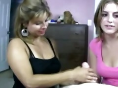 cougar tells daughter how to jack knob in the