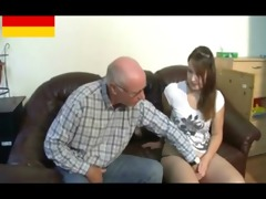 german old man makes young hotty concupiscent