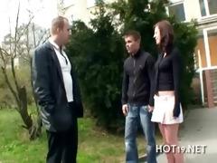 stranger copulates bewitching girl