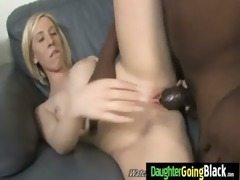 petite daughter bonks giant darksome pounder 100