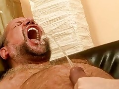 grand-dad fucking and pissing on wicked redhead