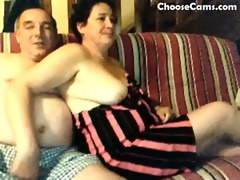 lewd grandma and old man having enjoyment