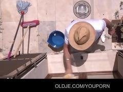 tina blade tricks old man to fuck