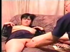 old stud fucking youthful wife with hubby filming
