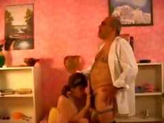 older man banging busty girl by troc