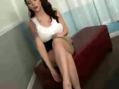 step sister jerking off hard shlong with hose