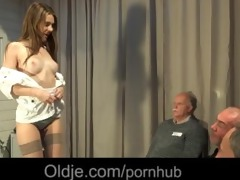 8 old geezers gang group sex wide a naughty young
