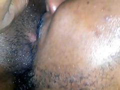 dad drinking&lickin my moist pussy