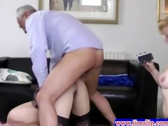 british honeys threeway pleasure with old stud