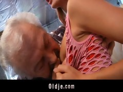 grandpapa fortunate to fuck a hot youthful