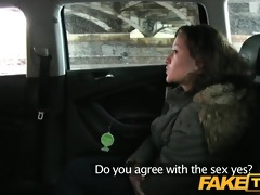 faketaxi 44 years old and sucking taxi rod