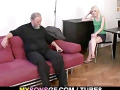 old daddy forces his sons gf engulf his jock