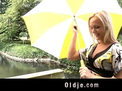 old dude teaches teeny raunchy gymnastic